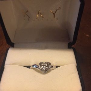 Kay Jewelers Sterling Silver Heart Ring Size 6